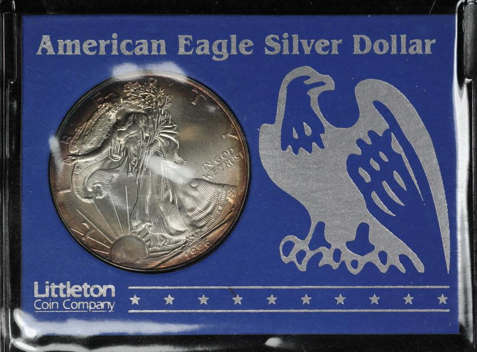 1996 American Silver Eagle - Littleton Coin - Light Attractive Toning