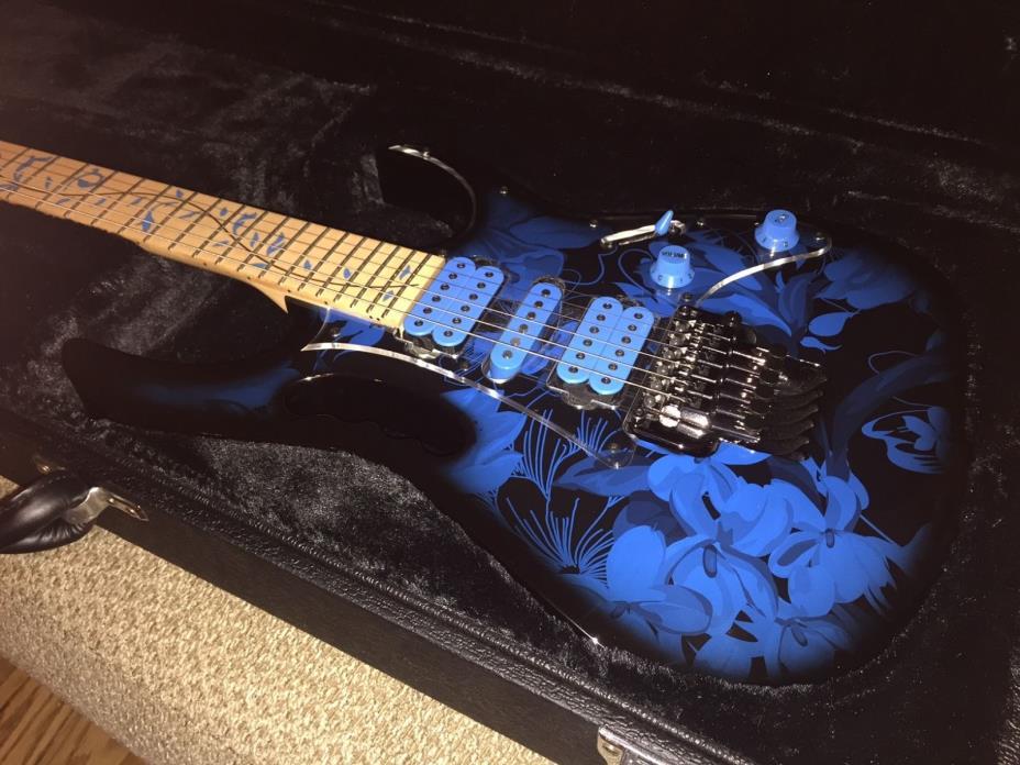 Ibanez JEM77P Steve Vai Sig JEM Premium Guitar Blue Floral Pattern 190839008626