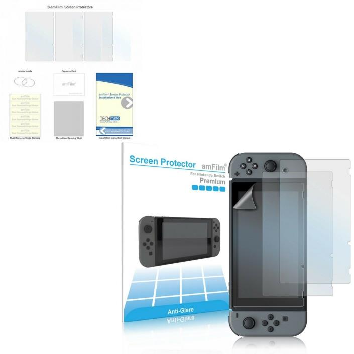 3 Pack Nintendo 2017 Switch Screen Protector Anti-Glare/Anti-Fingerprint Matte