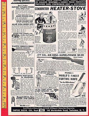 Vintage Knife Advertisement: 1962 PUMA WHITE HUNTER KNIFE, SOLINGEN,  7.5