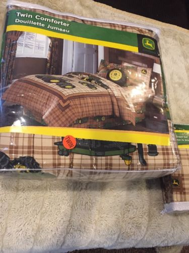 NEW JOHN DEERE TWIN Sheets Farm Comforter Bed Set BIG GREEN TRACTOR Gator Boys