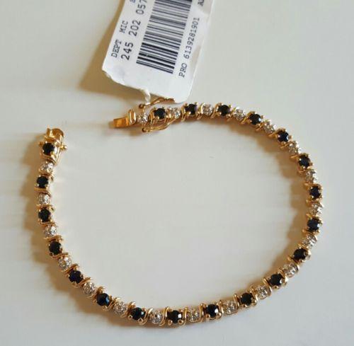 Sapphire & Diamond Tennis Bracelet Mother's Day Gift!