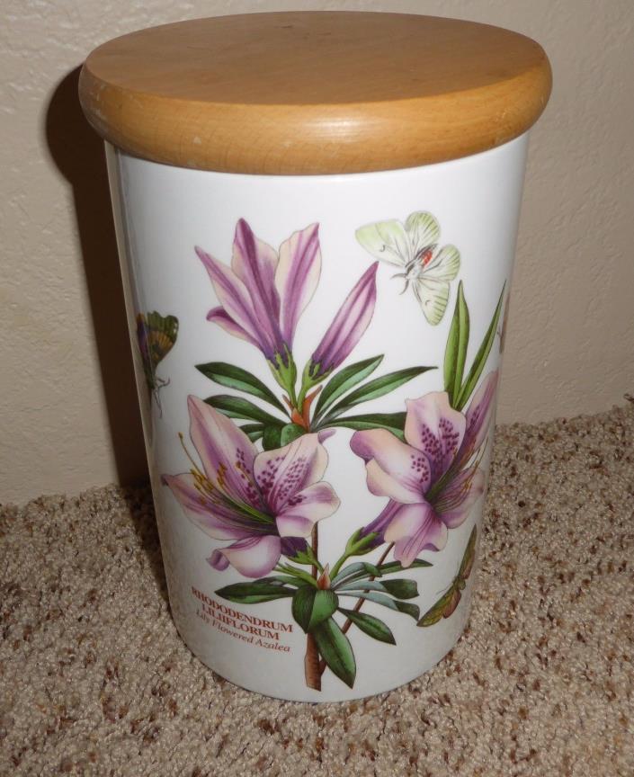 PORTMEIRION Botanic Garden Rhododendrum Liliiflorum Porcelain Canister w/ Lid
