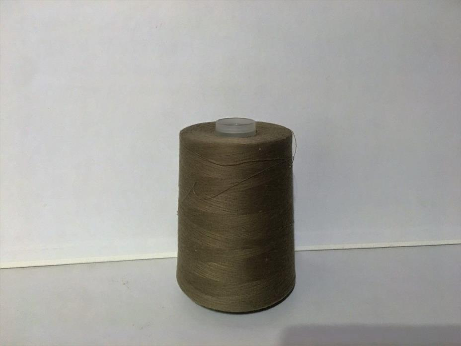 1 Roll Spun poly tex 21; 12,000 yds Army L Taupe , polyester thread, quilting th