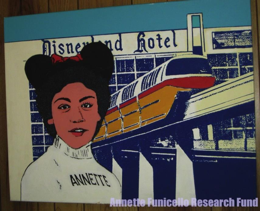 Personal Property of Annette Funicello Original Art Mouseketeer Disneyland Hotel