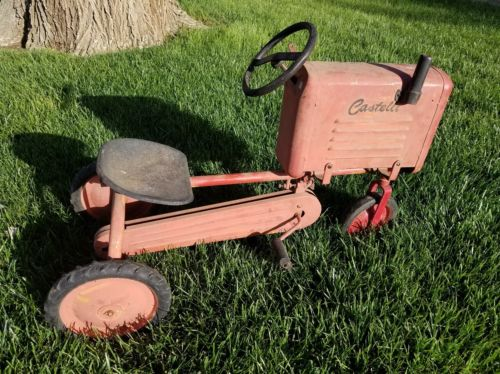 Castelli Metal Pedal Car Ride On Childs Toy Tractor Truck Farm Country Vintage