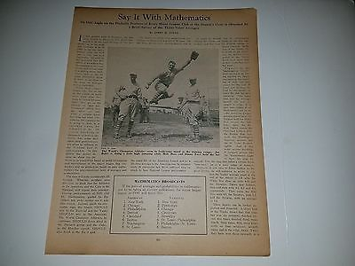 Jimmie Foxx Mule Haas Joe Boley A's 1930 Baseball Magazine Headline Sheet