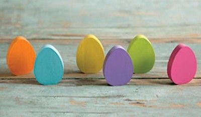 Longaberger 2017 WoodCrafts Multicolored Easter Eggs **Set of 6**