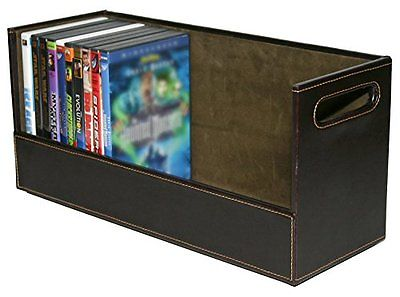 Stock Your Home Stacking DVD Movie Media Home Storage Organizer- Chocolate Brown