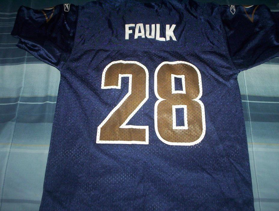 NFL-ST.LOUIS RAMS-MARSHALL FAULK- JERSEY-YOUTH MEDIUM-REEBOK