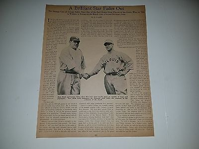 Babe Ruth George Sisler 1930 Baseball Magazine Headline Sheet