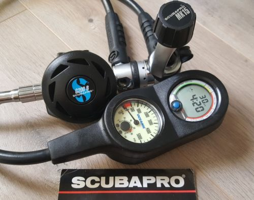 SCUBAPRO G200B  WITH MK15 AND OCEANIC COMPUTER CONSOLE PRIMO!