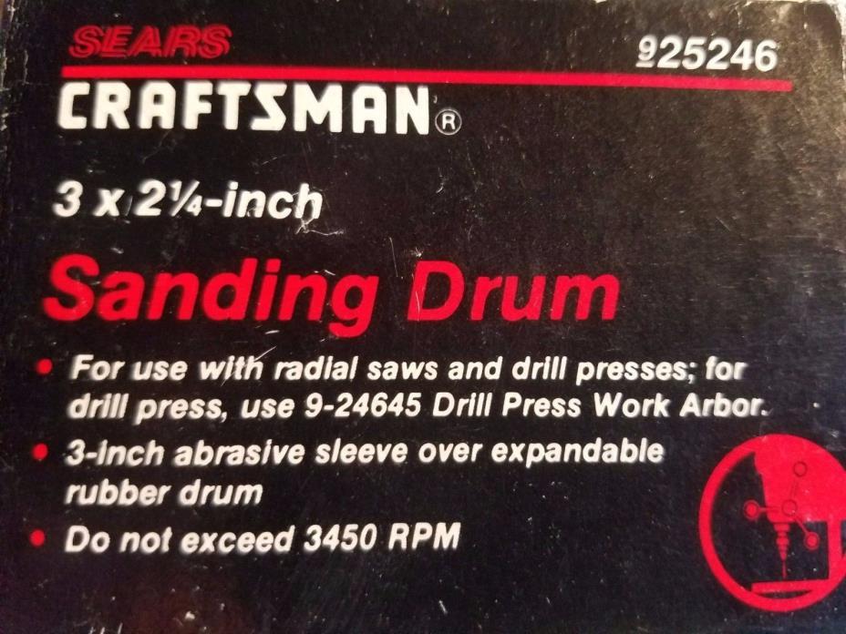 CRAFTSMAN 925246 3 x 2 1/4in Sanding Drum