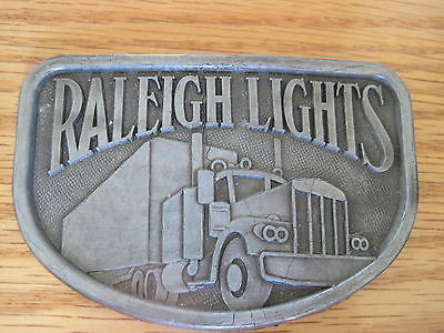 Raleigh Lights Semi Truck Belt Buckle