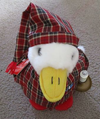 Aflac Duck 2007 Limited Edition Holiday Duck In Red Pajamas With Candle Macy's