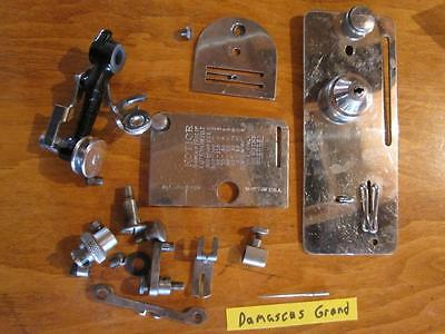 VINTAGE DAMASCUS GRAND TREADLE SEWING MACHINE PARTS COVERS & MISC