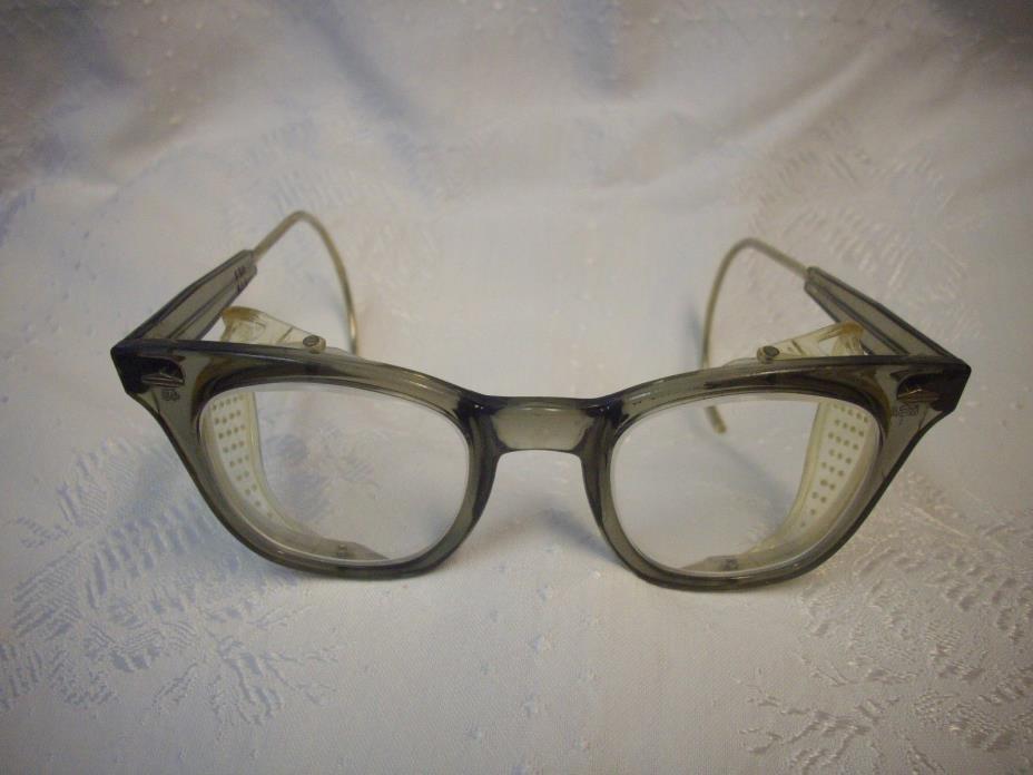 Vintage MSA Safety Eyeglasses 48 6-3/4 Frames Guards -Mine Safety Appliances Co.