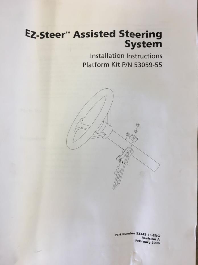 EZ-Steer Assisted Steering System Bracket