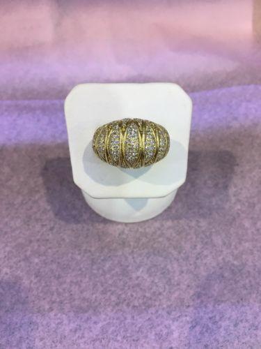 Judith Ripka 18kt Yellow Gold Diamond Ring