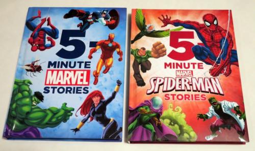 Set of two 5-Minute Marvel Stories Spider-Man Hardback NEW