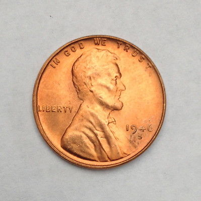 1946-S LINCOLN WHEAT PENNY CENT,