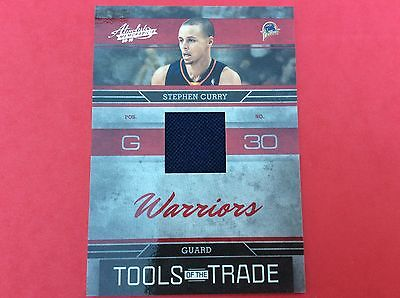 2009/10 STEPHEN CURRY BECKETT GRADE 9 ABSOLUTE Tools of Trade RC JERSEY 152/249
