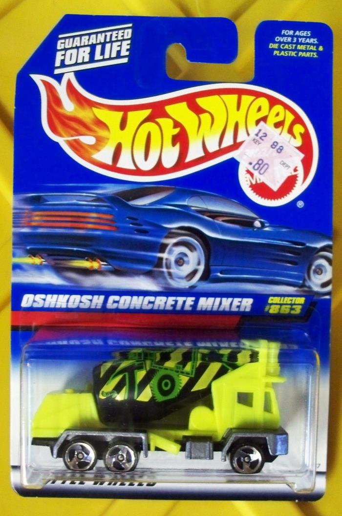 Hot Wheels True Vintage 1997 OSHKOSH CONCRETE MIXER #863