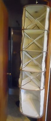 New- Unused out of package- 5 tier mesh Closet hanging organizer Holds a lot!