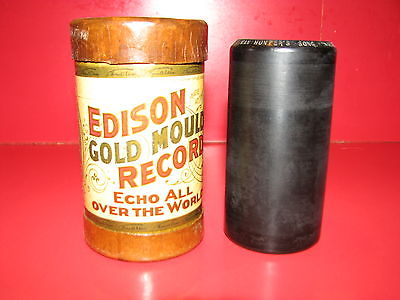 Edison Gold Moulded Record Cylinder #4029 Song: German Hunter's Song
