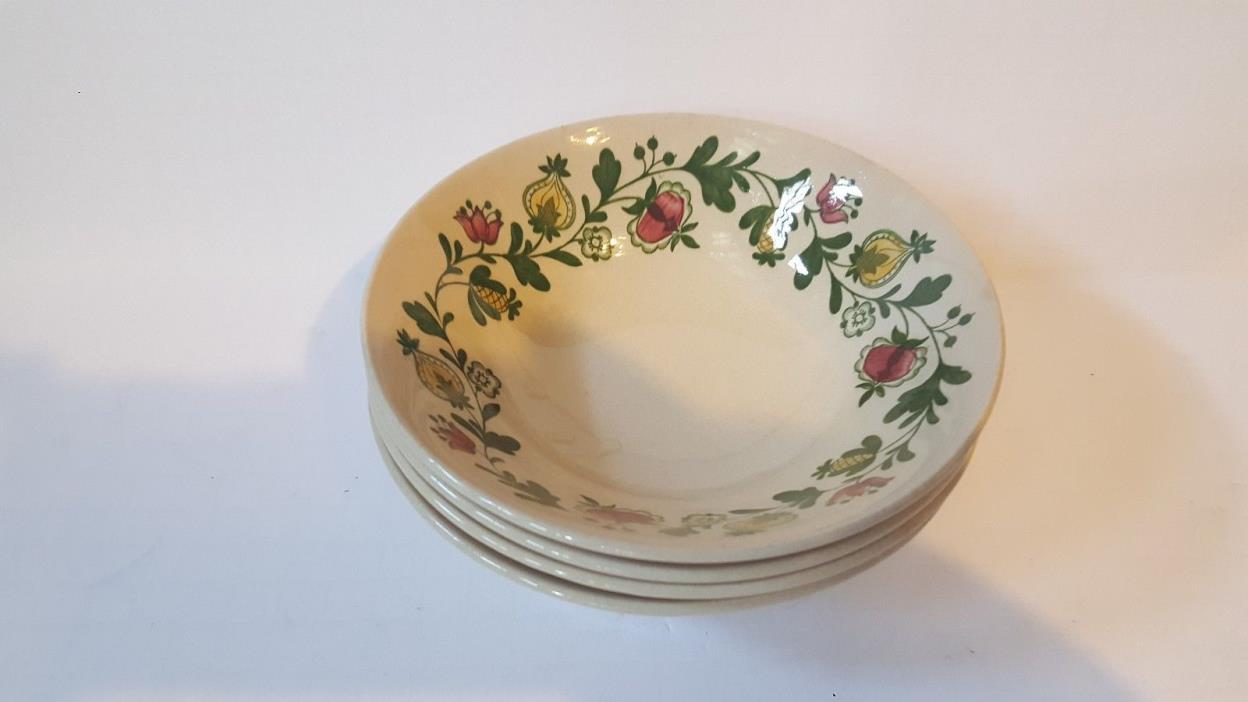 Johnson Brothers GRETCHEN 4 Soup/Cereal Bowls Staffordshire Old Granite 6.5