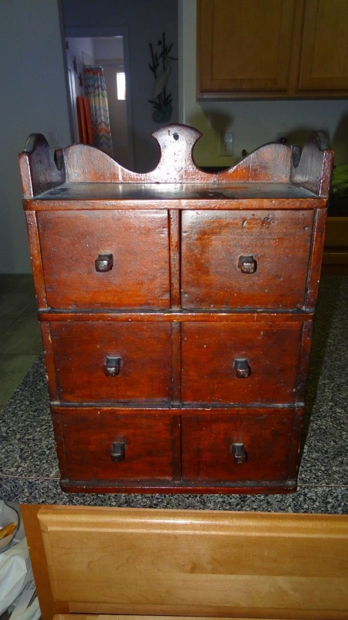 ANTIQUE 6 DRAWER SPICE/APOTHECARY