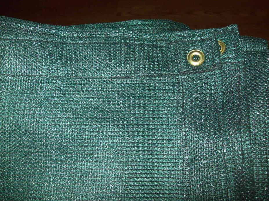 44'' X 25' 60% GREEN SHADE CLOTH PRIVACY SCREEN SUN BLOCK  WITH GROMMETS U.S.A.