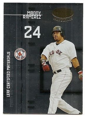 2005 LEAF CERTIFIED MATERIALS PREVIEW Manny Ramirez #LC10