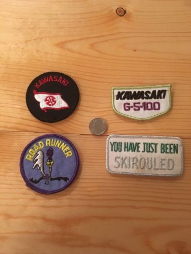 Vintage Snowmobile Patch Lot, Road Runner, Kawasaki Unused 1970S