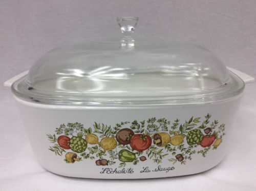 Corning Ware Spice Of Life Casserole Dish Dutch Oven Roaster Dome Lid 4 Qt A84B