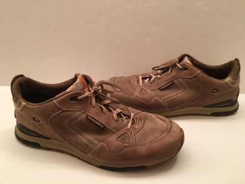 MEPHISTO ( WORN TWICE ) ATLANTA ALLROUNDER IN TAUPE SUEDE / MESH SHOES SIZE-12.5