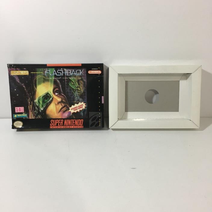 Flashback Quest For Identity BOX ONLY (Super Nintendo) SNES NO GAME INCLUDED!!