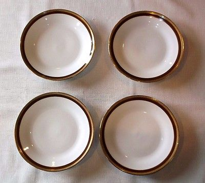 R. GINORI ~ PALERMO BROWN ~ 4 LUNCHEON PLATES ~ EXCELLENT CONDITION! ~ ITALY ~ 4