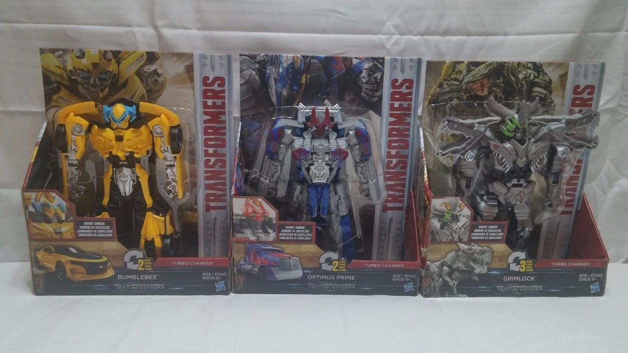 TRANSFORMERS Turbo Changers OPTIMUS PRIME Grimlock BUMBLEBEE - New FREE SHIPPING