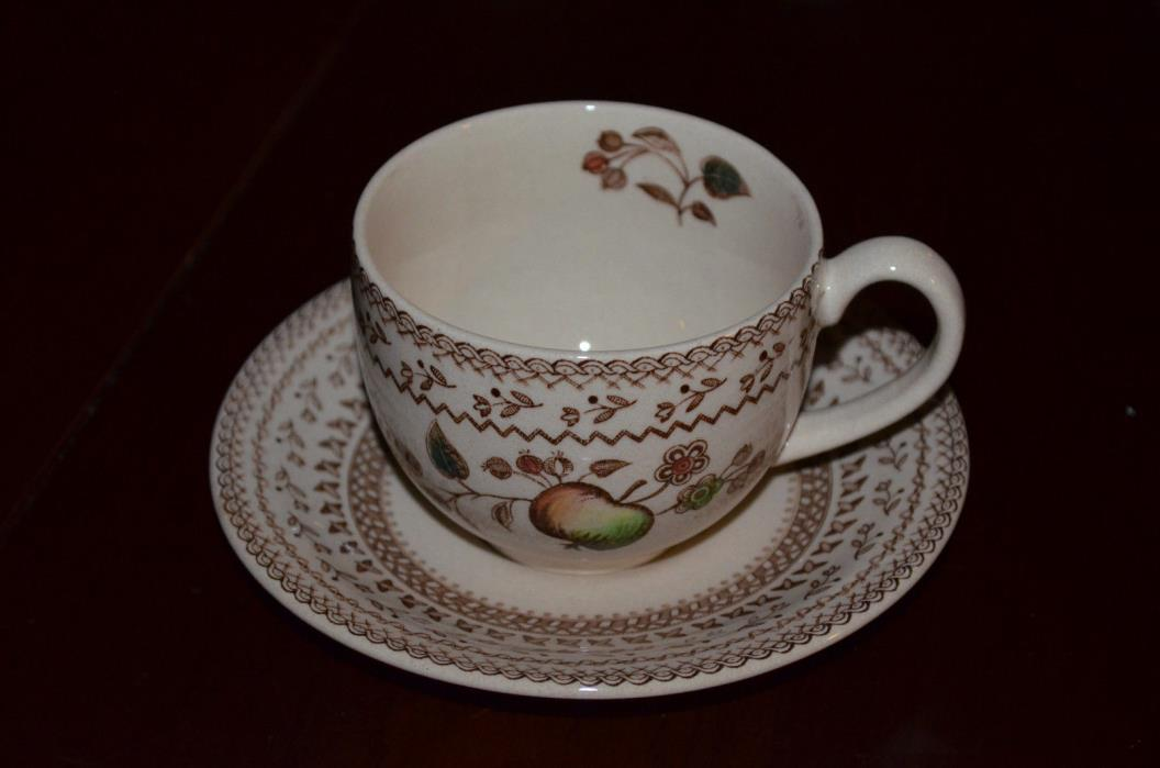 JOHNSON BROTHERS Staffordshire Old Granite  Cup and Saucer