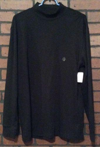 Saddlebred Shirt Black Size Medium 100% Cotton Long Sleeve Solid MM23