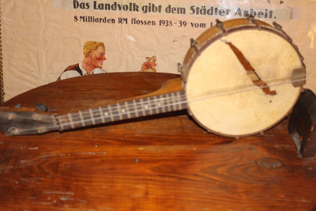 Antique Small Banjo for Restoration