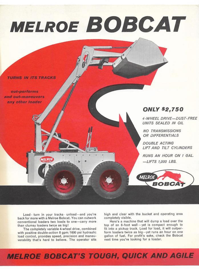 1960's-1970's Melroe Bobcat M-440 Self-Propelled Loader Brochure