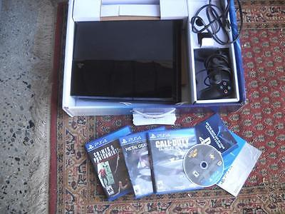 Playstation 4 PS4 Console complete w/ Box 4 games and instructions!