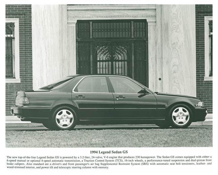 1994 Acura Legend Sedan GS ORIGINAL Factory Photo och5687