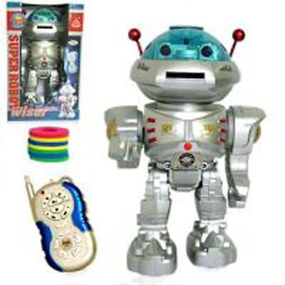 RC Toy Space Wiser Remote Control Dancing Robot w/ RC Missile Disc Launcher RBSX