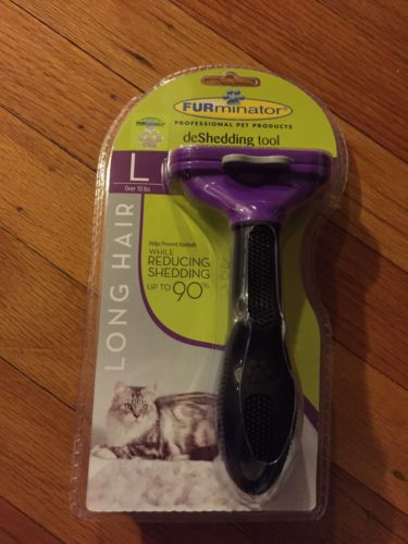 FURminator 2.65 EDGE DE-SHEDDING TOOL FOR LARGE CAT LONG HAIR OVER 10 LBS 12PCS