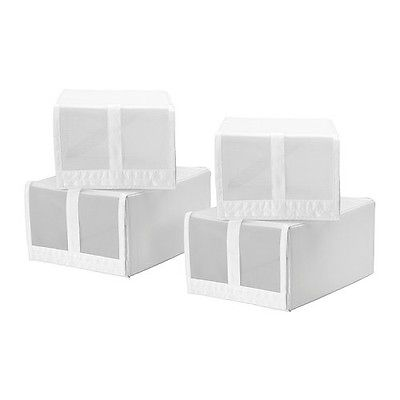 New drop-front shoe boxes, WHITE, 6 boxes