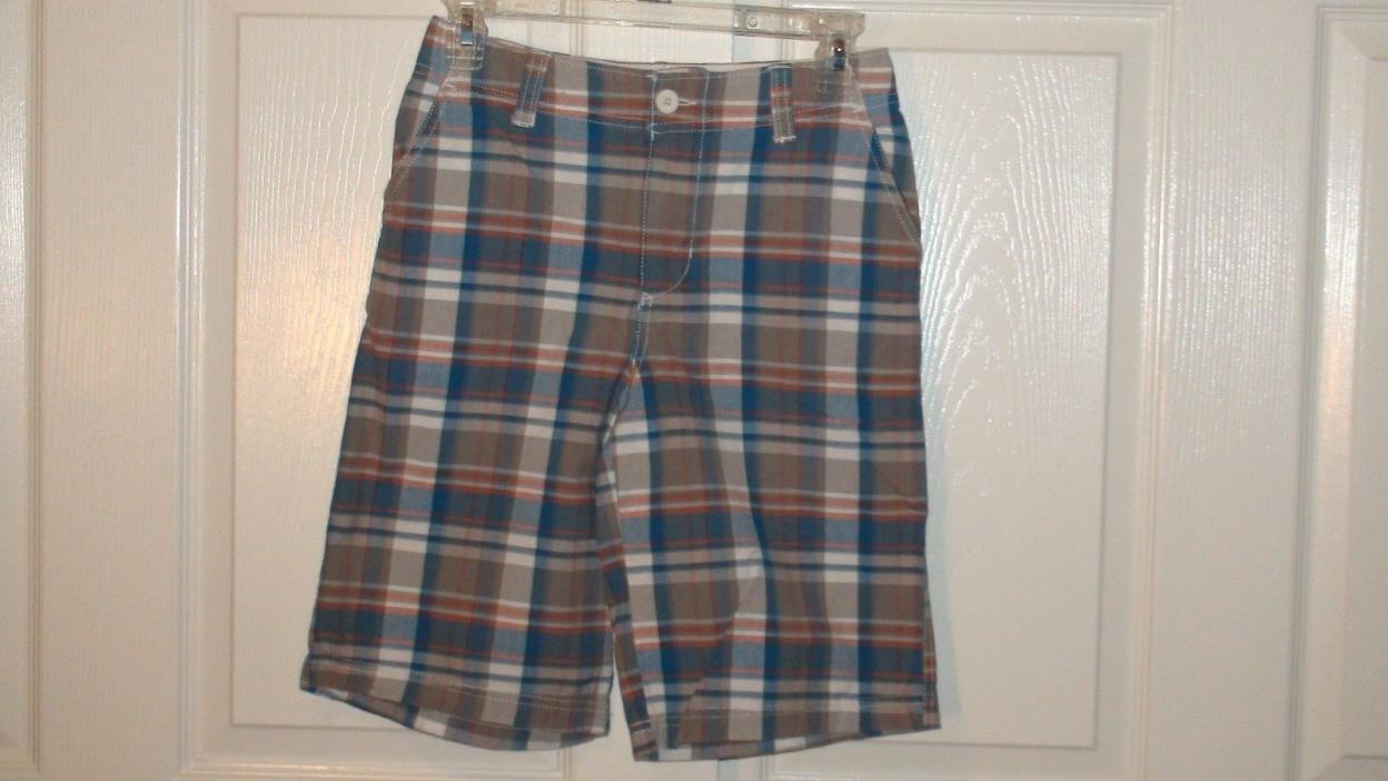 Boys Urban Pipeline Plaid Flat Front Shorts Size 12 Multi- Color EUC