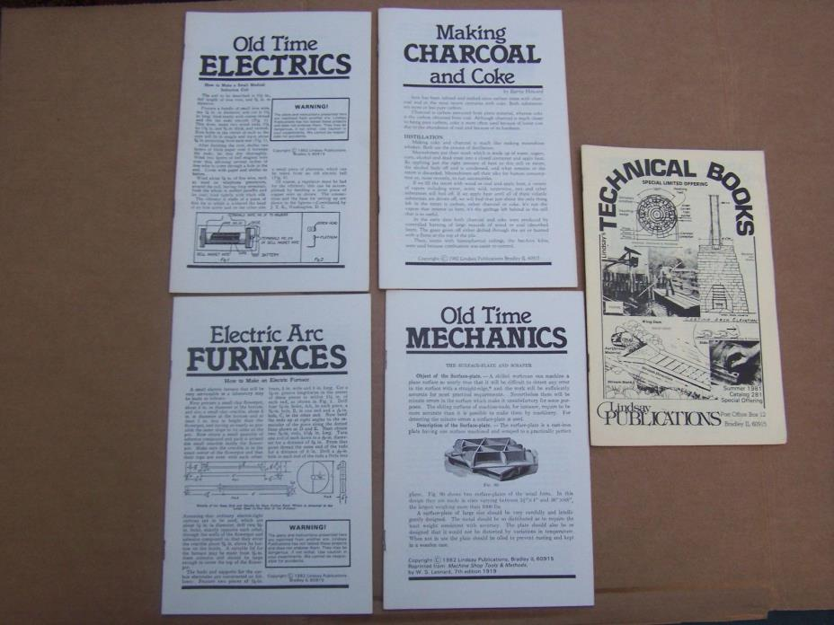 5 Pack of 1981 Lindsay's Technical Books / Booklets